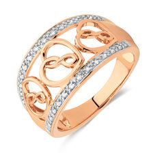Infinitas Ring with Diamonds in 10ct Rose Gold