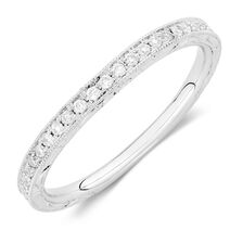 Michael Hill Designer Amoroso Wedding Band with 1/4 Carat TW of Diamonds in 14kt White Gold