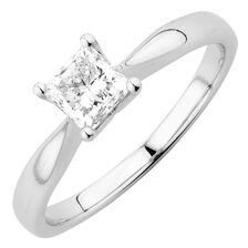 Evermore Colourless Solitaire Engagement Ring with a 0.70 Carat Diamond in Platinum