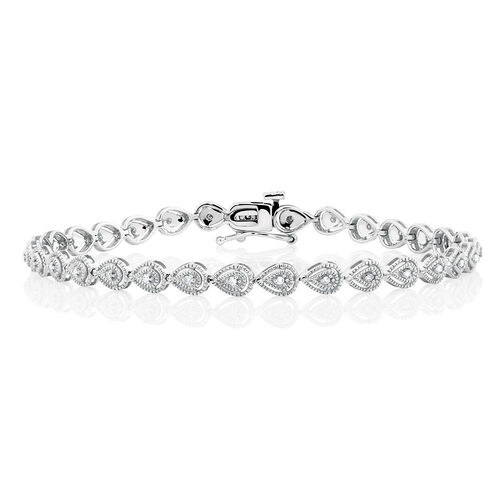 Tennis Bracelet with 1/6 Carat TW of Diamonds in Sterling Silver