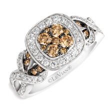 Le Vian Ring with 1 Carat TW of Chocolate & Vanilla Diamonds in 14kt White Gold
