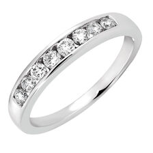 Wedding Band with 0.38 Carat TW of Diamonds in 14kt White Gold