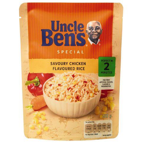 Uncle Ben's Express Savoury Chicken Flavoured Rice 250g