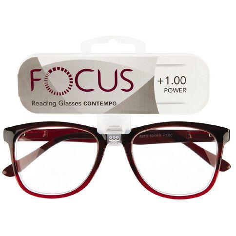 Focus Reading Glasses Contempo 1.00