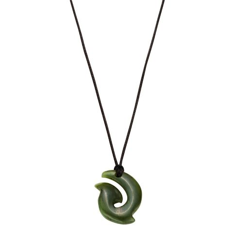 Jade Mini Hook Pendant 15x20x5mm