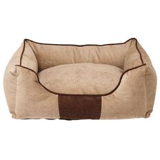 Fur'life Pet Bed Rectangle Corduroy Caramel Small 50cm x 40cm x 18cm