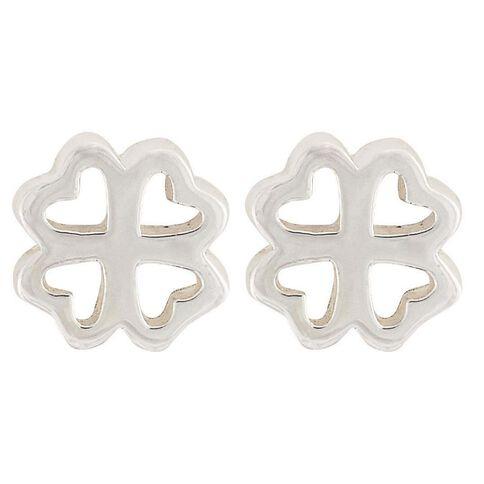 Sterling Silver Small 4 Heart Earrings