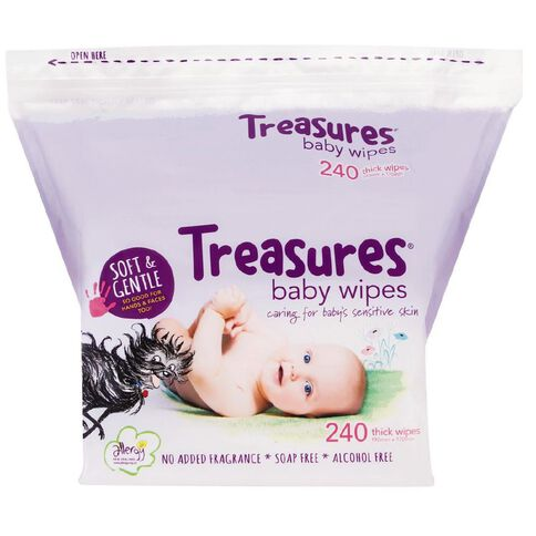 Treasures Baby Wipes 240 Pack