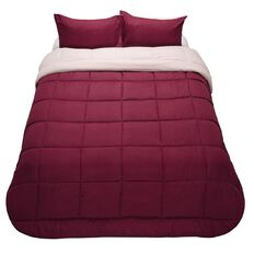 Living & Co Reversible Comforter Set 3 Piece