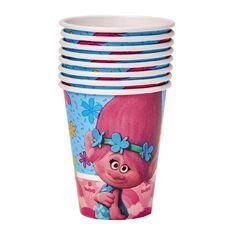 Trolls Cups 266ml 8 Pack