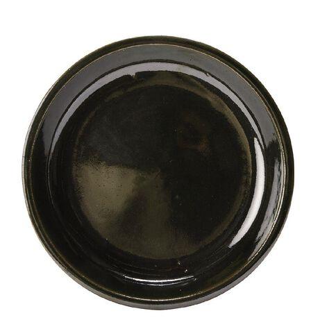 Green Round Saucer 22cm