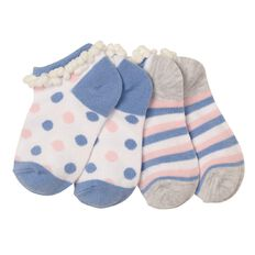 H&H Infants Girls' Pom Pom Liner Socks 2 Pack