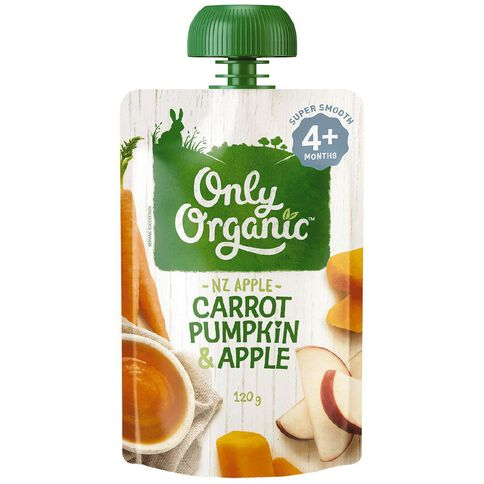 Only Organic Carrot Pumpkin & Apple 120g