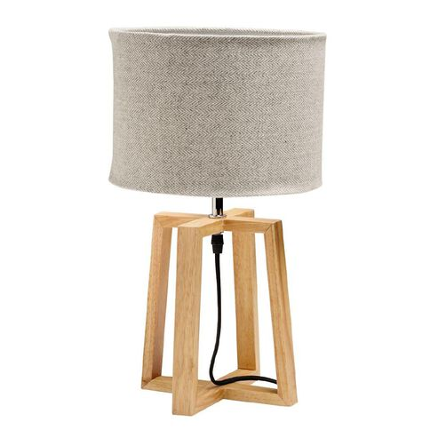 Design House Table Lamp Oslo Wood 44.5cm