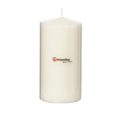 Necessities Brand Pillar Candle Cream 7.5cm x 15cm