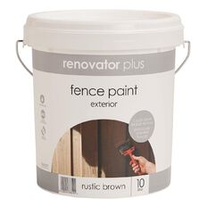 Renovator Plus Fence Paint Rustic Brown 10L