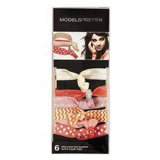 Models Prefer Decorated Super Soft Hair Ties 6 Pack