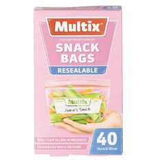 Multix Quick Zip Resealable Snack Bags 40 Pack