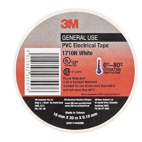 Scotch PVC Electrical Tape 1710 18mm x 20m White