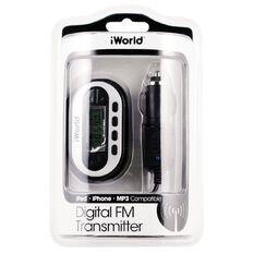 iWorld Digital FM Transmitter for iPod/MP3 FM-3500 Black