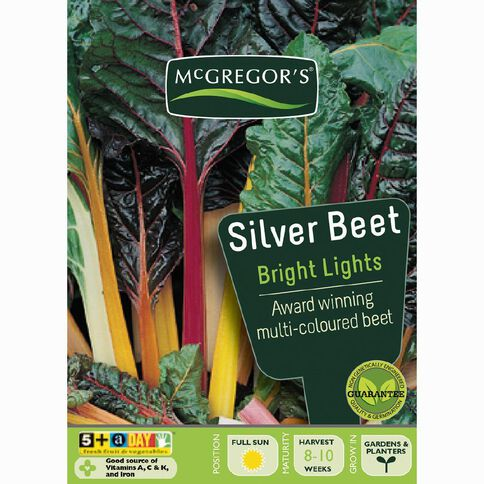McGregor's Bright Lights Silverbeet Vegetable Seeds