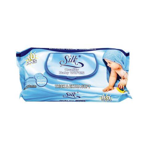 Silk Wipes 80 Pack
