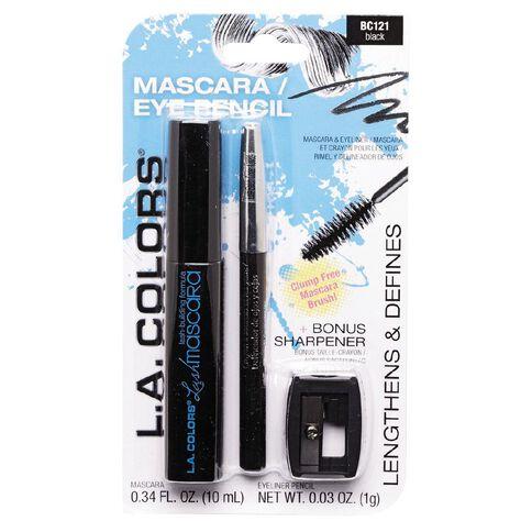 La Colors Mascara and Liner Duo Pack Black