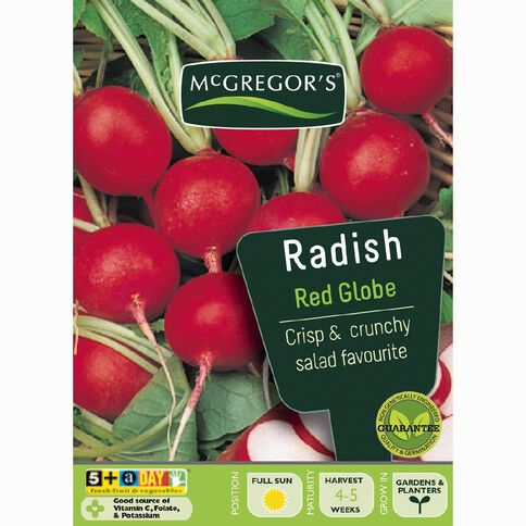 McGregor's Red Globe Radish Vegetable Seeds