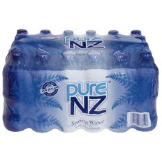 Pure NZ Spring Water 600ml 24 Pack