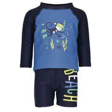 Beach Works Infants Boys' Placement Print Rash Set