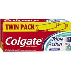 Colgate Triple Action Toothpaste 160g 2 Pack