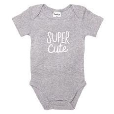 Basics Brand Baby Print Front Short Sleeve Bodysuit