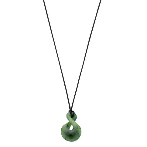 Jade Small Double Twist Pendant