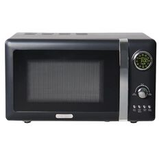 Living & Co Vintage Digital Microwave Black 20L