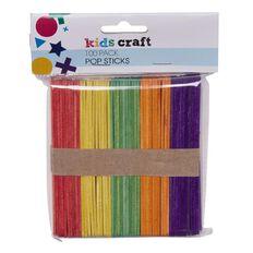 Kids' Art & Craft Pop Sticks Coloured 100 Piece