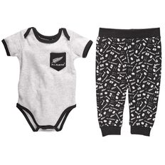 All Blacks Infants Bodysuit & Pant Set