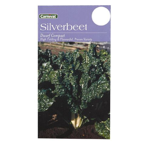 Carnival Seeds Dwarf Silverbeet Vegetable