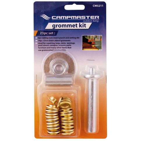 Campmaster Accessories Brass Grommet Kit for Canvas & Plastic 23 Pack