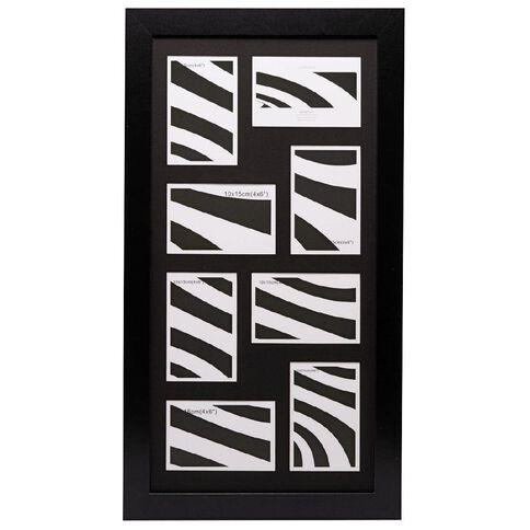 Living & Co Collage Frame Geneva Black 8 Openings 30cm x 60cm