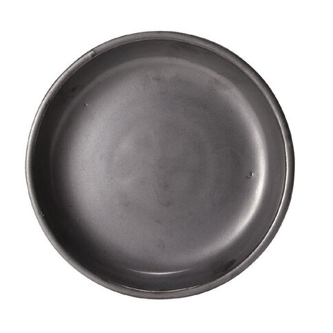 Matt Black Round Saucer 22cm