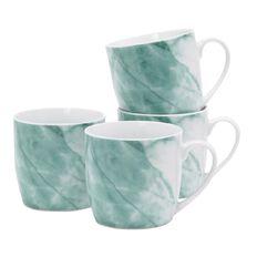 Living & Co Mugs Marble Green 4 Pack