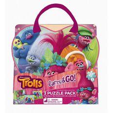 Trolls Puzzle Bag 3 Pack
