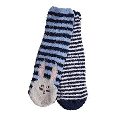 H&H Girls' Animal Bed Socks 2 Pack