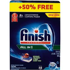 Finish Dishwasher Tabs All-in-One Fresh Scent 48 (32 + 16) Bonus Pack