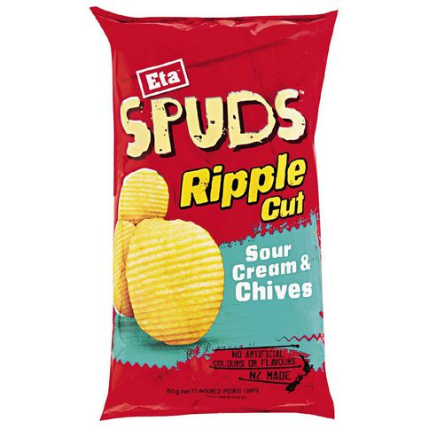Eta Spuds Ripples Sour Cream & Chives 150g