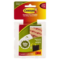 Command Sawtooth Picture Hanging Hooks 17042 Value Pack
