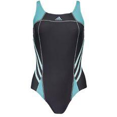 Adidas Women's Athletic Swimsuit Dark Grey