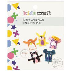 Kids' Art & Craft Make Your Own Felt Finger Puppets