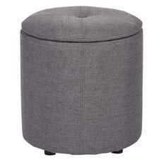 Living & Co Linen Storage Ottoman Grey