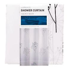 Living & Co Shower Curtain Dandelion 130cm x 180cm